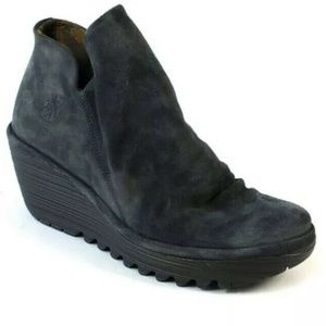 Fly London Yip Deep Oil Suede Boot Size 39